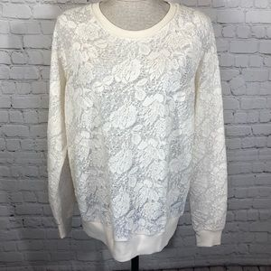 NWT Forever 21 Lace Tee L